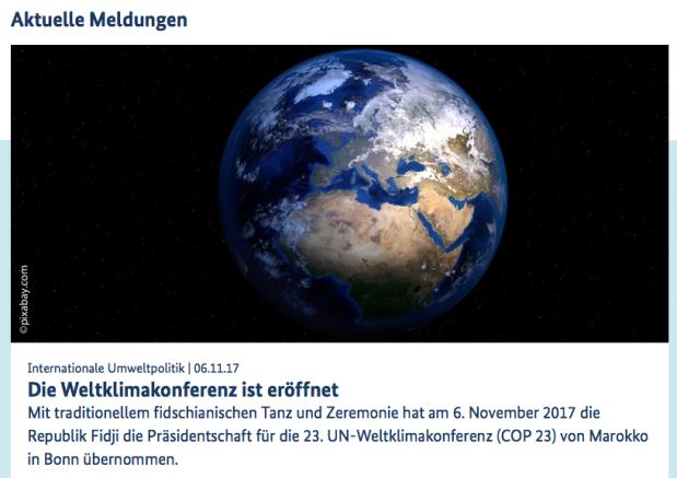 Eröffnung Klimakonferenz I